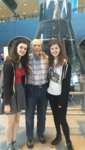Lisa Woolfson with sister and grandfather