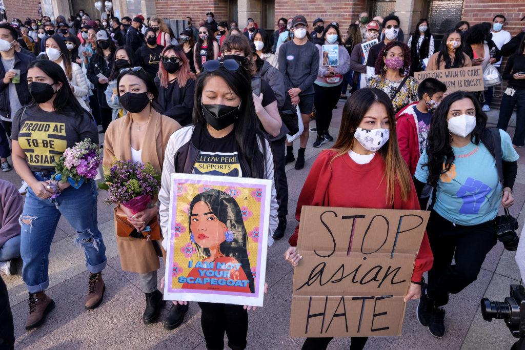 Demonstrators raise awareness of anti-Asian violence