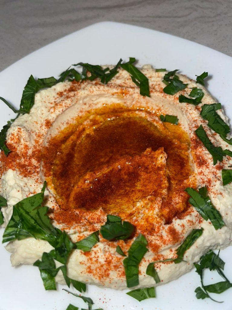 Homemade humus is one of the dishes featured in the new cookbook