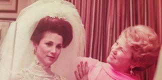 Lillian Kaplan Feldshuh helps her daughter prepare for her wedding