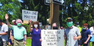 Jon S. Cardin at a Black Lives Matter protest