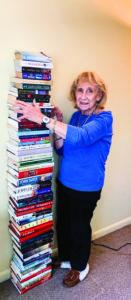 Ida Rothenberg with books