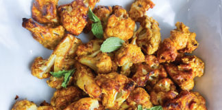 Curry-roasted cauliflower