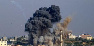 Israeli air strike in Gaza City