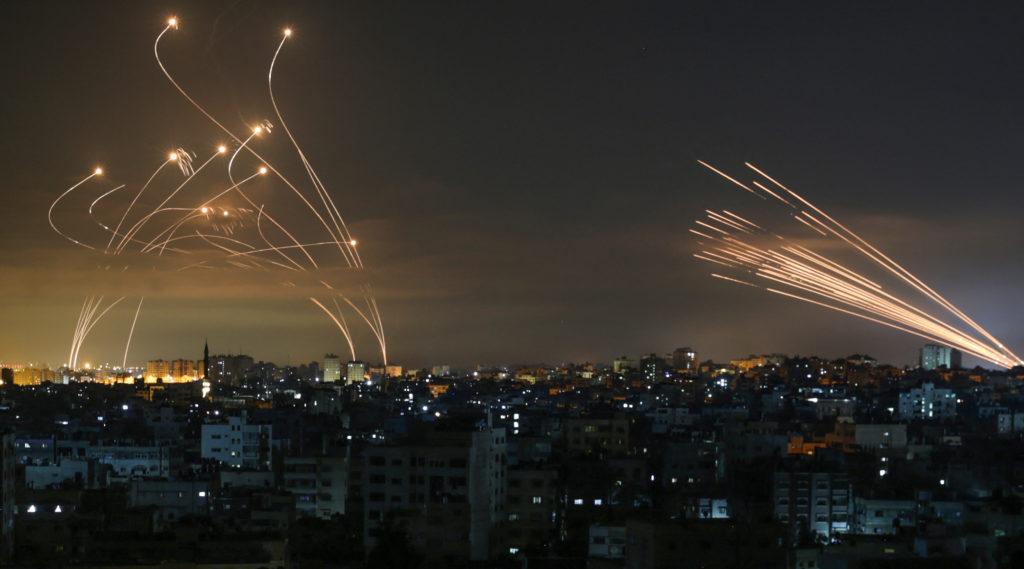 Iron Dome intercepts missiles