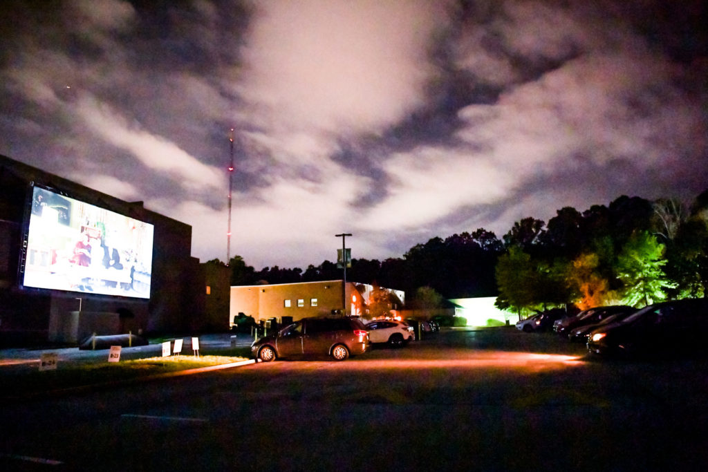 A drive-in movie at the Gordon Outdoors