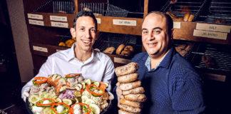 Chaim Lazar and Mark Prince of Goldberg's Bagels