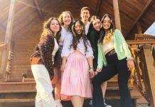 Teens in the Shinshinim program, from left: Zohar Shinehorn, Tamar Maor, Noya Karavani, Ofir Yasur, Noam Trock and Yam Agami