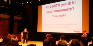 Keshet staff doing an LGBTQ sensitivity and inclusion training session