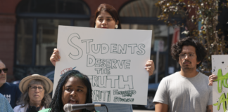 Protest against bills banning critical race theory in classrooms