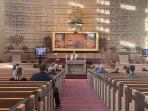 Socially distanced services at Baltimore Hebrew Congregation