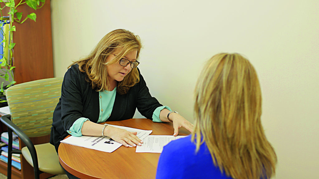 Sherri Sacks with a client