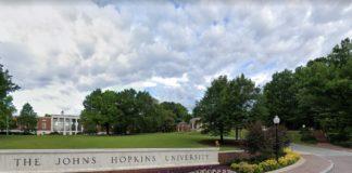 Google Maps screenshot of The Johns Hopkins University.