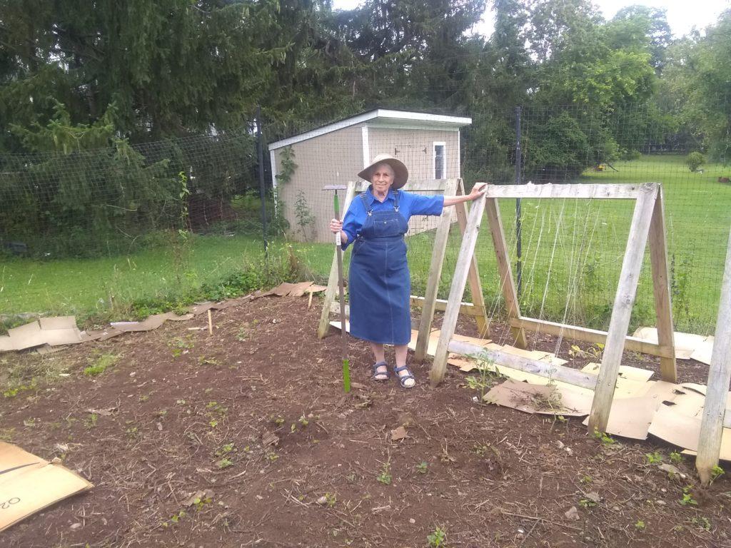 Judy Floam at Netivot Shalom's communal garden