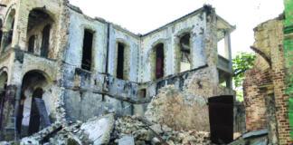 Destruction from the earthquake in Haiti