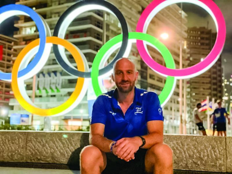 Yoni Rosenblatt, Team Israel's sports physical therapist, in Tokyo