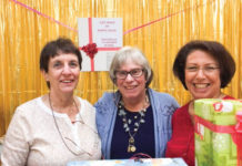 From left: Kappa Guild members Wilma Samuelson, Sheila Mentz and Miriam Stern