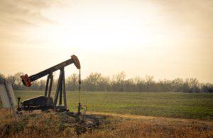 An oil derrick