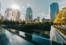 A view of the 9/11 Memorial & Museum in New York City