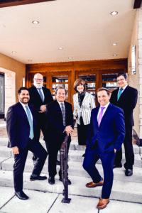 Beth Tfiloh clergy and staff, from left: Rabbi Eli Yoggev, Cantor Avraham Albrecht, Rabbi Mitchell Wohlberg, Director of Education Zipora Schorr, Rabbi Mordechai Posner and Rabbi Chaim Wecker