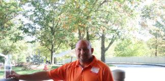 Blood donor John Steele, outside the Rosenbloom Owings Mills JCC