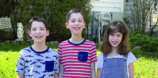 Jacob, Connor and Rachel Goldschmidt